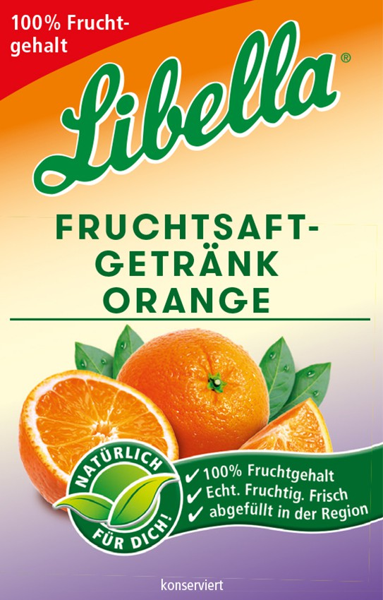 Libella Fruchsaftgetränk Orange Bag in Box Postmix